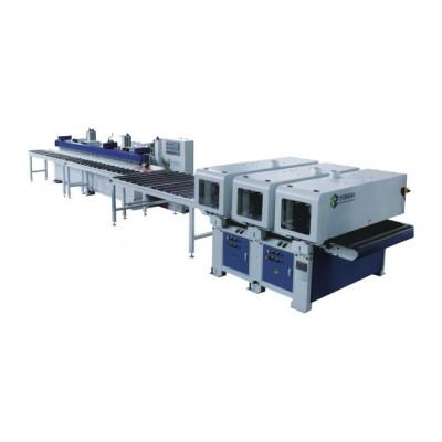凯源精科供应宽幅异型面砂光机与砂边机生产线