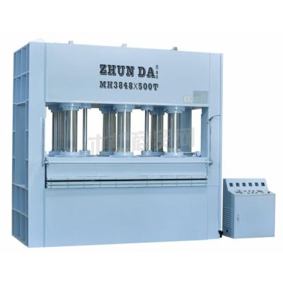 准达供应木工机械层压机500吨热压机压板机