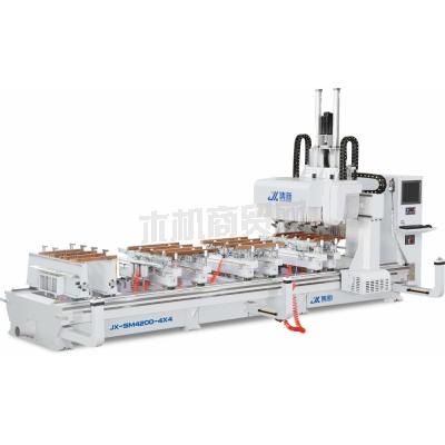 集新机械 JX-SM4200-4X4 龙门式榫卯加工中心